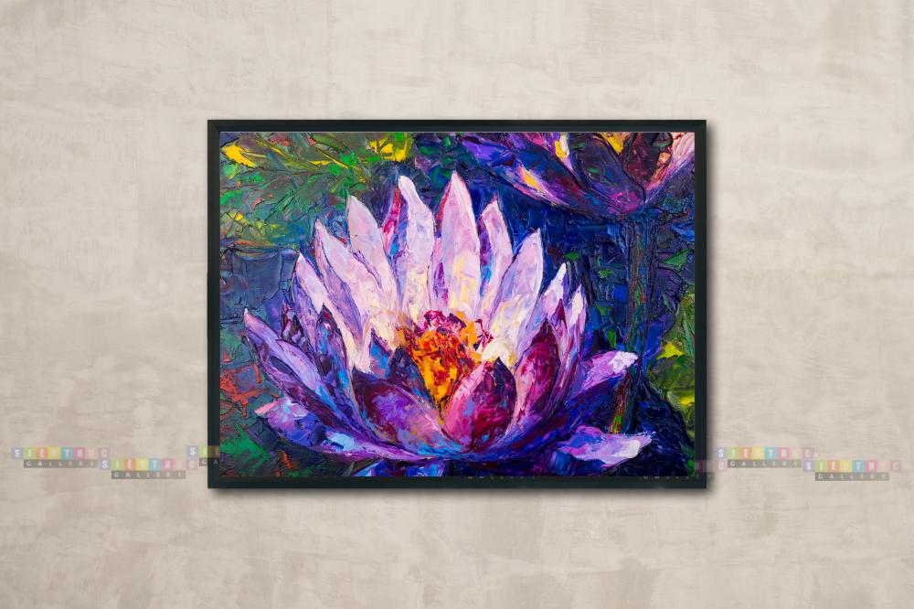 Tranh canvas phong thủy hoa sen mã HS01