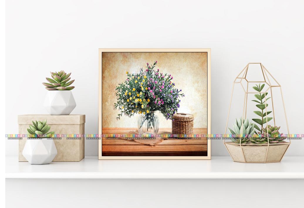 Tranh canvas trang trí phòng khách hoa tươi PK01