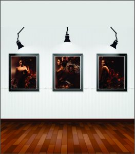 Bộ ba bức tranh canvas khỏa thân nghệ thuật mã KT03