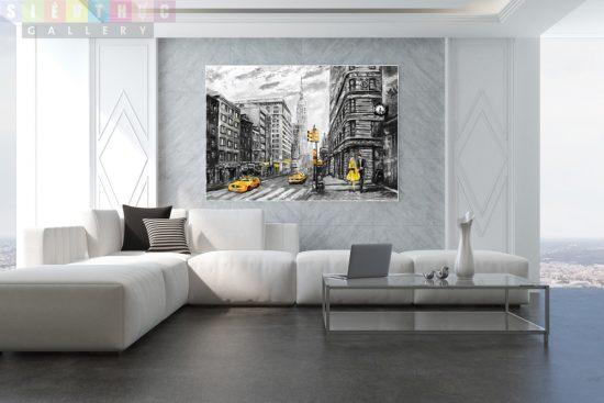 Tranh canvas thành phố hiện đại mã HD01