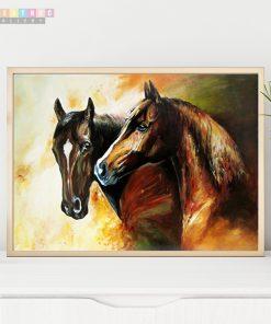 Tranh ngựa phong thủy mã TN01