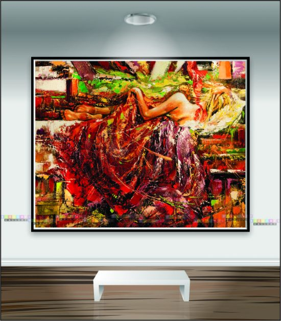 Tranh canvas khỏa thân nghệ thuật mã KT01