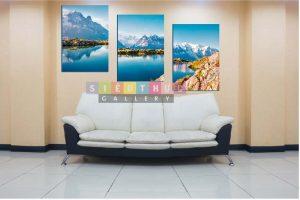 Bộ ba tranh canvas phong cảnh mã PC01