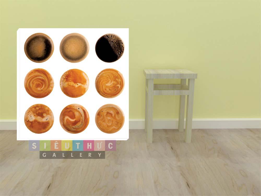 Tranh canvas hương vị cafe mã CF03