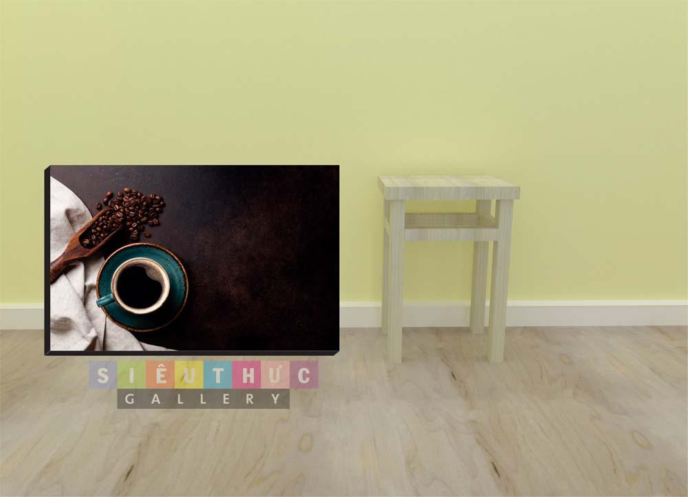 Tranh canvas ly cafe mã CF04