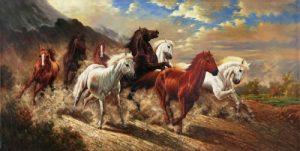 Tranh Ngựa phong thủy tại Hóc Môn
