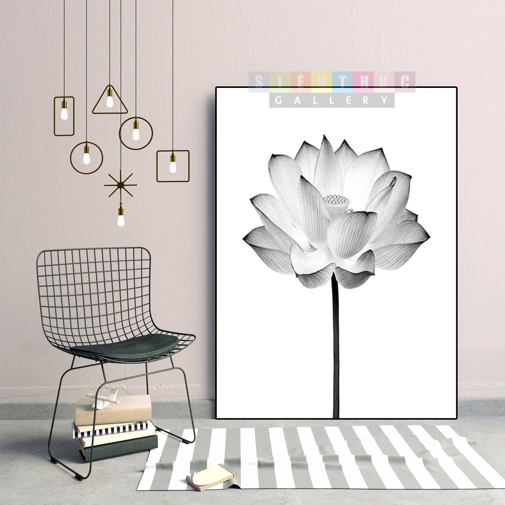 Tranh canvas phong thủy hoa sen mã HS05